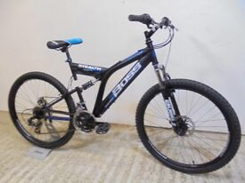 """Boss Stealth 26"""" Gents Med Size Full Suspension Mountain Bike 18"""" Discs Used Tidy Serviced GC"""