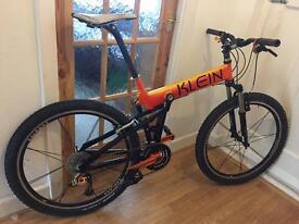 Klein full suspension mountain bike