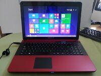 "Advent Monza Red Laptop : Intel Celeron dual core hd :320GB RAM: 4GB 15.6"" win 8, £130"