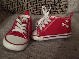 Red Next Baby Trainers 0-3 Months