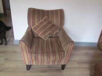 Striped Velour Armchair