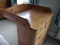 chest of drawers - baby changing unit
