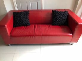 IKEA two seat RED SOFA easy to clean