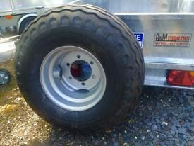 Farm trailer wheels silage trailer wheels cattle trailer wheels Ifor Williams cattle trailer wheels