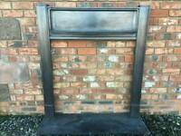 111 Cast Iron Fireplace Surround Original circa 1884 Victorian Fire Log Burner Old rare type