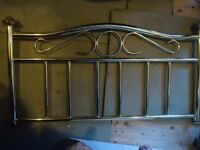 CHARITY SALE: Metal headboard for single bed. All money to rescue homeless cats and dogs.