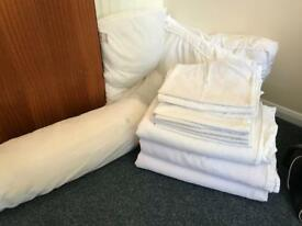Aussie bed linen 3 double duvet covers white waffle weave & pillow cases & pillows!