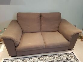 Two seater Light brown couch Ikea