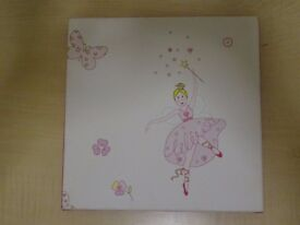 BALLERINA PRINCESS/FAIRY KIDS WALL PICTURE - MOUNTED CANVAS