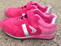 Clarks girls pink trainers size 8F