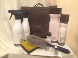 BMW bag and car cleaning products