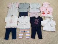Baby girls clothes bundle 6-9 month. Inc Next, H&M, F&F & Mothercare