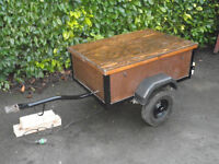 Vintage Box Trailer with lid which adapts into a Table, idea for camping or car boot sales