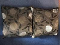 "Two cushions 16"" x 16"""