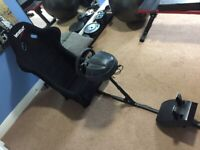 Gaming/Racing Rig, inc Thrustmaster T300 wheel/pedals (PS4 & PS3) & seat, fully adjustable