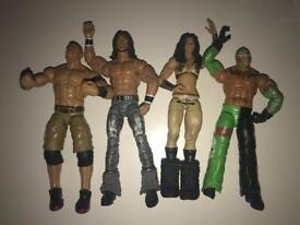 4 RARE ELITE WWE FIGURES