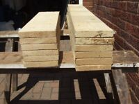 Pine timber offcuts