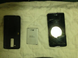 lg -k350n smartphone spares and repairs cracked screen £10