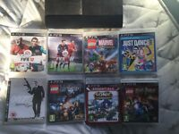 PS3 Console 120GB + 8 Games