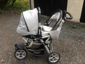 Jane slalom pro matrix cup travel system pram/ buggy from 0 to 3 years
