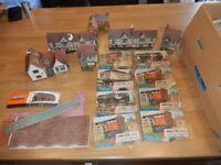 Vintage Hornby & Vintage Airfix bundle - Scenery / Buildings / Wagon Joblot