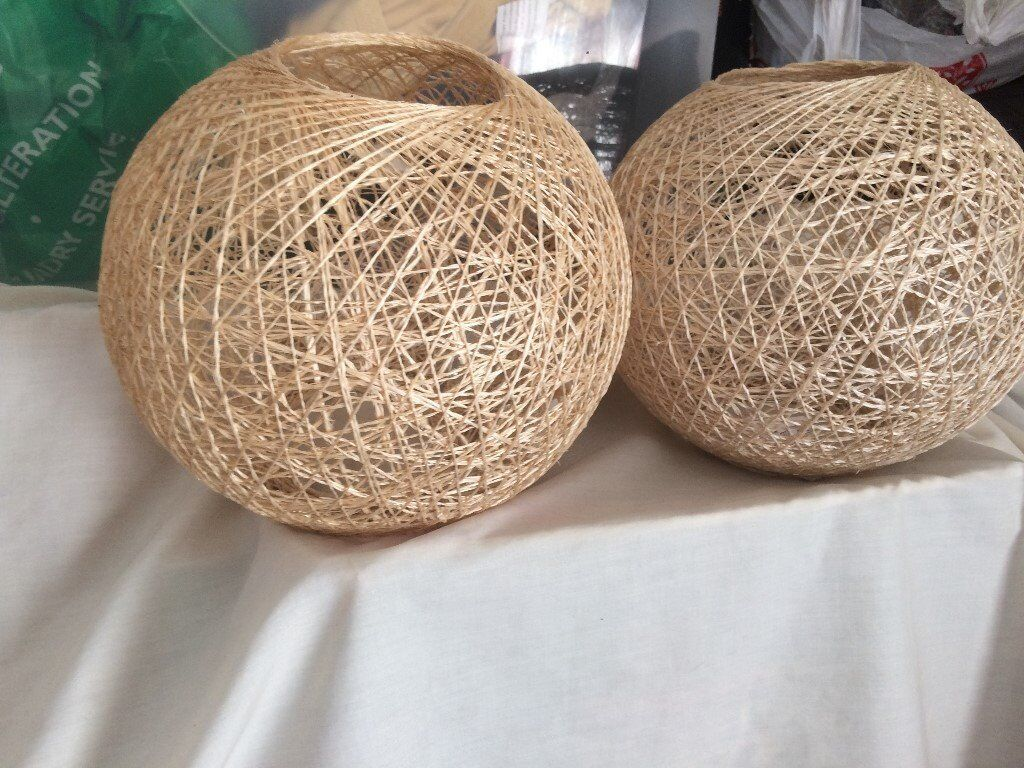 2lamp shades nest looking
