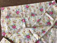Lovely pair of floral curtains, hardly used