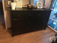 Ikea hemnes black drawer unit