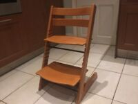 Stokke Tripp Trapp Chair. Natural cherry colour, very good condition