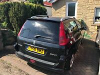 Peugeot 206 Estate, black, cheap insurance