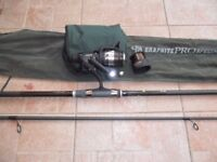 Carp Fishing Rod and Reel with spare spool complete with line