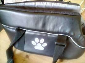 Small dog bag!! With zip and lead attachment