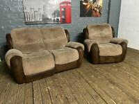 HARVEYS FABRIC SOFA AND ARMCHAIR IN EXCELLENT CONDITION