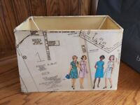Unique vintage sewing pattern lampshade