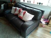 Large 2 Seater Leather Sofa Italian Leather Fab condition Fab Quality