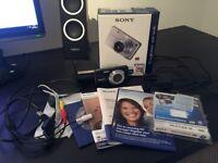 Sony Cyber-shot DSC-W270 12.1MP Digital Camera - Black - Boxed w/ Leather Case + Sony Memory Card