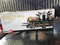 Vonshef raclette grill fondue