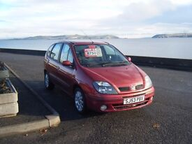 2003 53 mpv renault megane scenic 1.6 16v new mot drives superb clean example no offers
