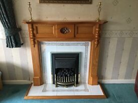 Wooden fire surround/fireplace