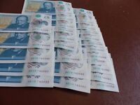 A run of 25 new polymer £5 notes with consecutive numbers