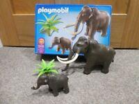 Playmobil 5105 Dinosaur Range Woolly Mammoth with Baby Set In Box
