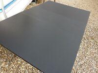 Black (folding) loose leaf dinning table £15