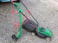 Qualcast electric mower and strimmer