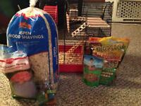 hamster cage and custom accessories