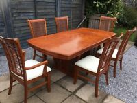 Extendable Dinning Table & 6 Chairs