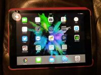 """Apple iPad Pro 9.7"""" Space Grey WiFi 128GB - PUPiL of Cambridge Leather Case (RED) - EXCELLENT COND."""