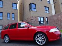 12 MONTH WARRANTY! (2009) SKODA OCTAVIA 2.0 TDi vRS CR 170 Estate- RED- One Owner- Genuine 60k Miles