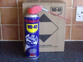 LARGE CANS OF ** WD40** WITH SMART STRAW.