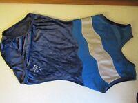 "Holsworthy Gymnastic Club Blue Velour Leotard Size 34"""