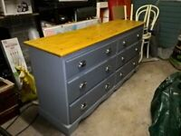 Six drawer upcycled chest of drawers.